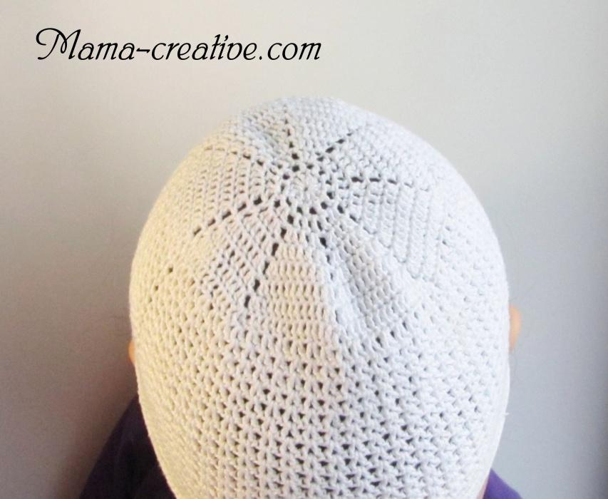 Белая шапочка - панамка