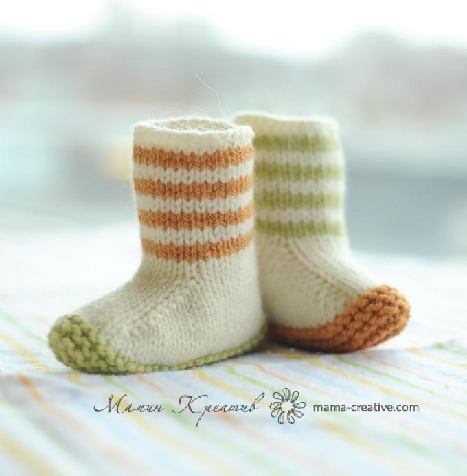 Носки сапожки для детей