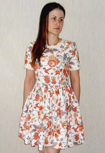 летнее платье на подкладе