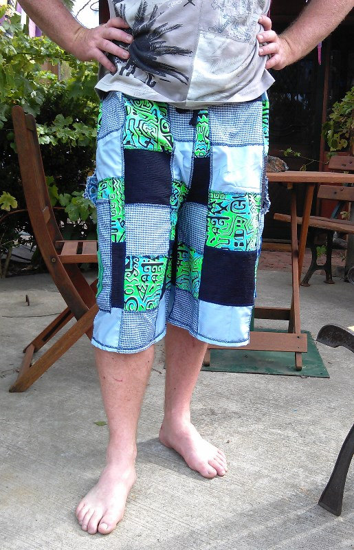 Пэтчворк короткие брюки