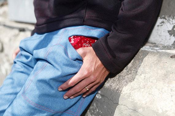 Хиппи шорты с карманом