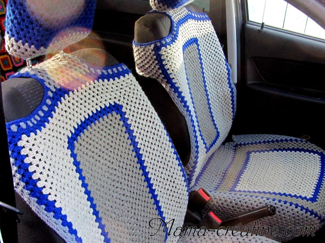 Чехлы на сиденье машины крючком