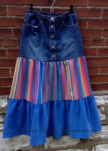 хиппи юбка