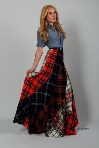 длинная юбка килт