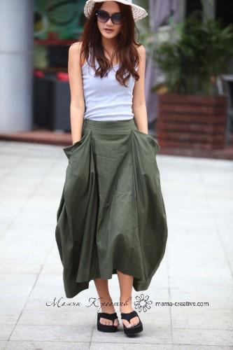 оригинальные макси юбки