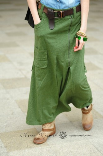 длинная юбка милитари