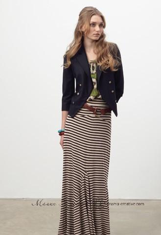 макси юбка в полоску