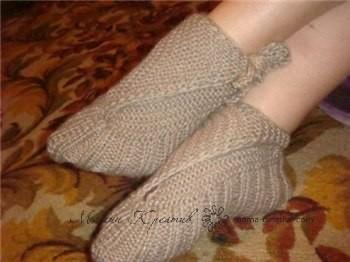 Способы вязания носков