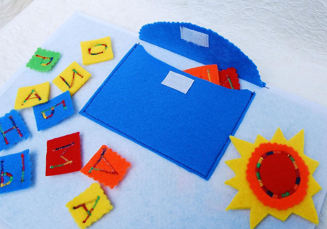 Как вышить буквы на фетре