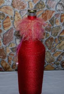 Как декорировать бутылку для вина
