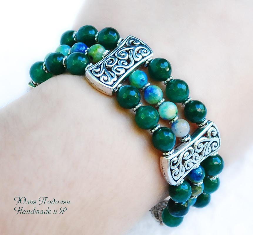Зеленый браслет берилл