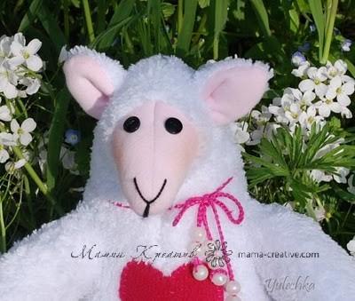Кукла игрушка тильда овечка