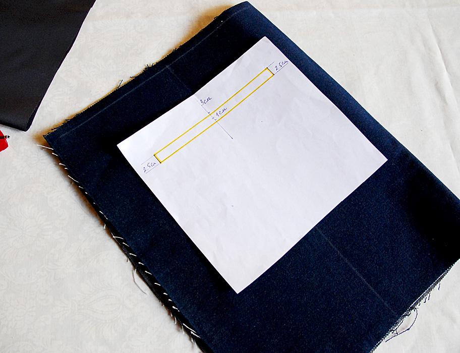 вшивной карман для сумки