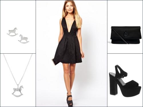 Маленькое черное платье для праздника