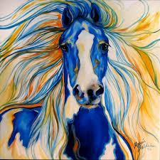 Лошадь синяя