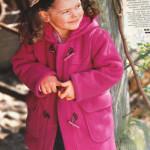 Пальто из флиса для девочки — дафлкот