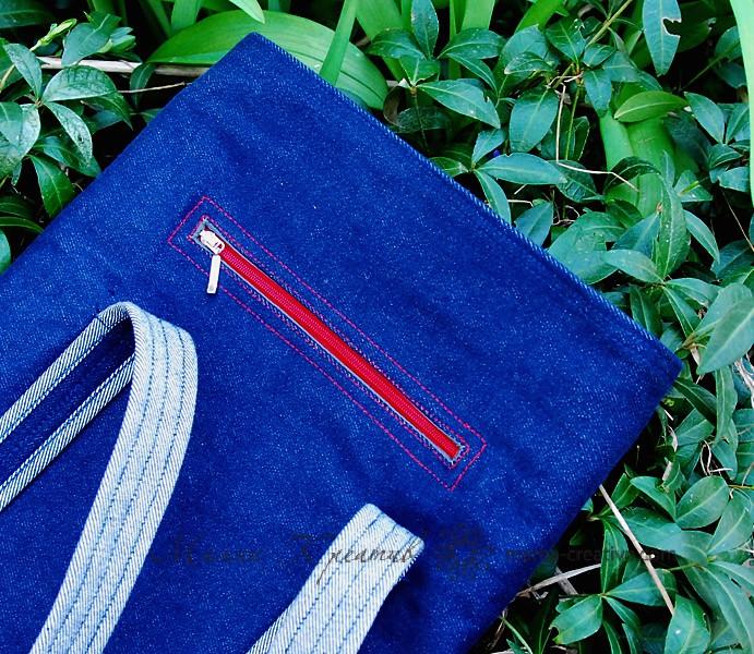 прорезной карман на молнии для сумки