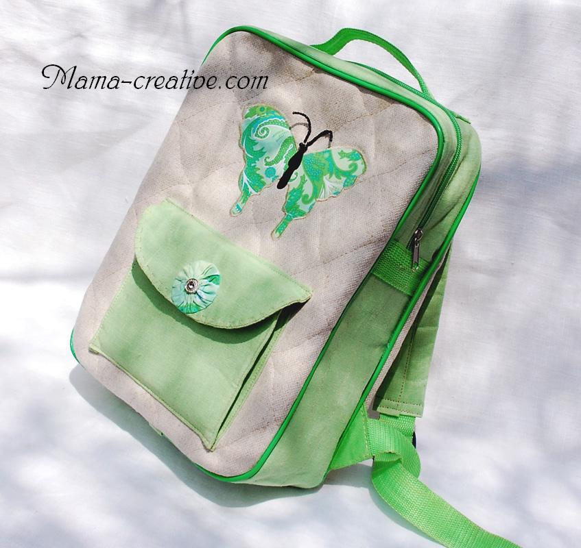 детский рюкзак сумка из ткани