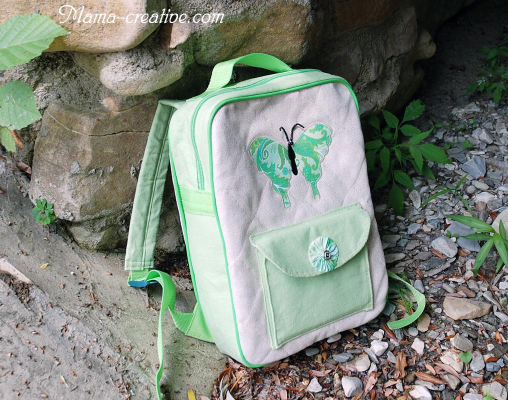 тканевый рюкзак для девочки