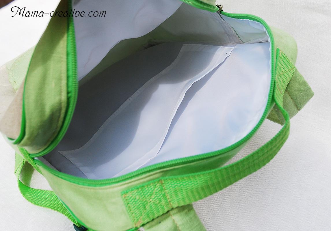 Внутренний подклад на рюкзак