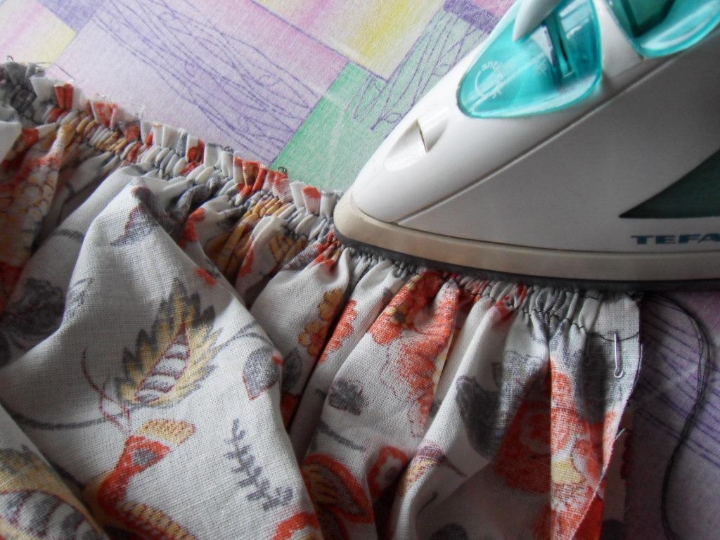 Как пришить сборку на платье