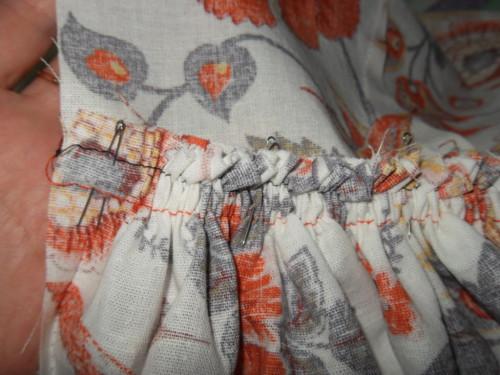 соединение юбки с лифом платья