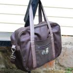 Большая сумка-портфель из искусственной кожи и текстиля