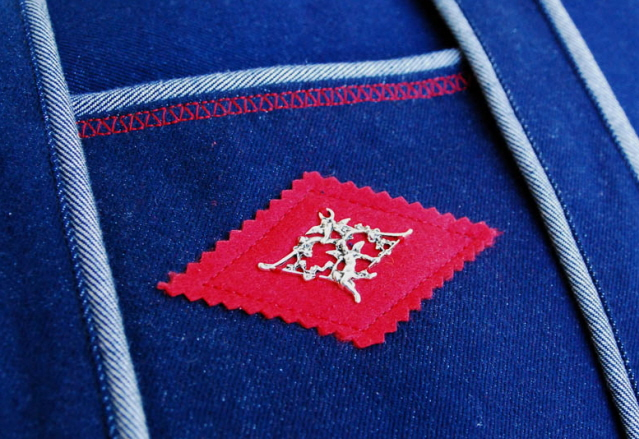 Нашивка на сумку, шармик - подвеска