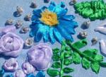 цветы вышить лентами