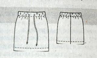 Выкройки юбки короткой прямой