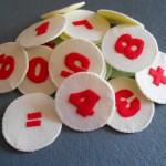 Делаем развивалку для детей: цифры из фетра своими руками