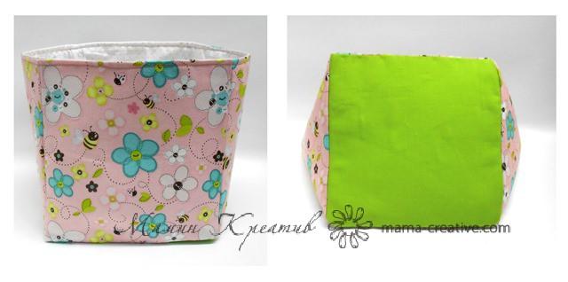 как сделать коробку из ткани