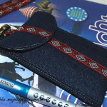 Чехол для телефона и пенал-косметичка из джинсы