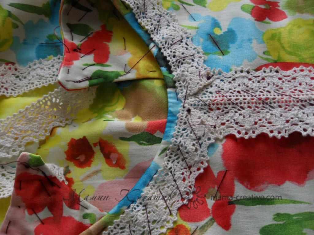 кружевная отделка платья