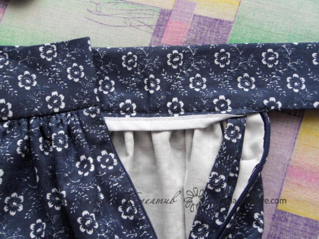 Вшить молнию в юбку