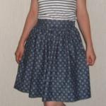 Пышная юбка-татьянка на подкладе без выкройки