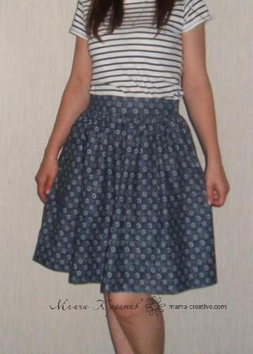 летняя юбка сшить самой