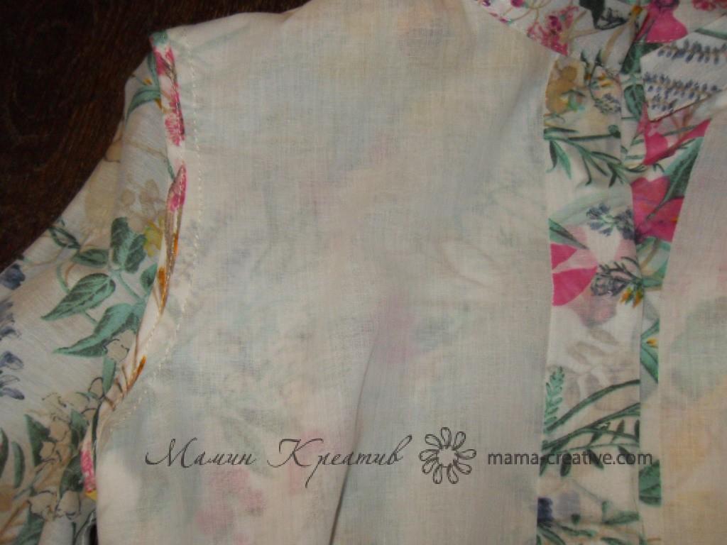 подкладка на платье
