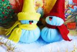 Елочные игрушки-снеговики