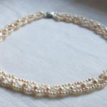 Жемчужное ожерелье, квадратное плетение