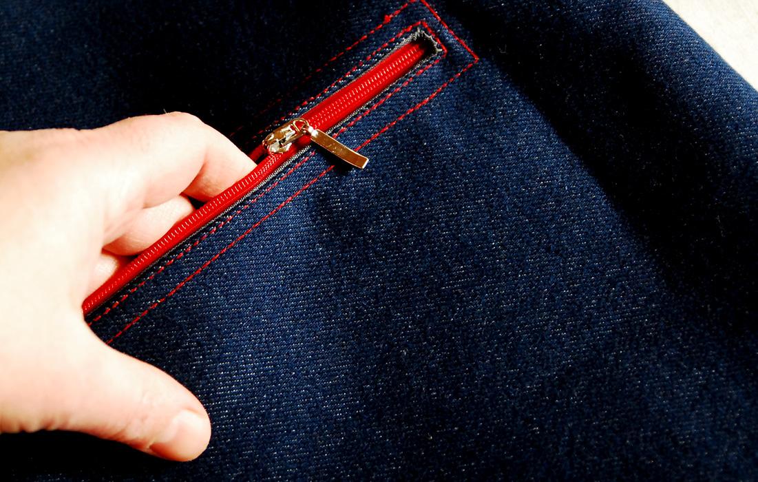 Прорезной карман мастер-класс
