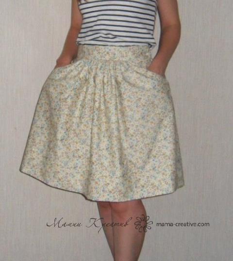 Летняя юбка сшить