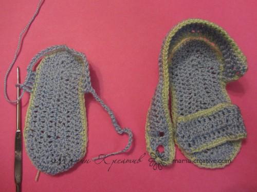 вяжем крючком сандалики