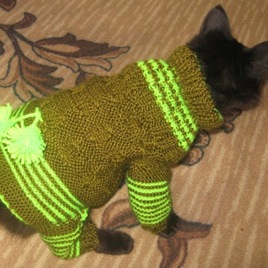 Вязание крючком на кошку 857