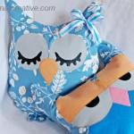 Подушки-совушки из ткани — интерьерные игрушки