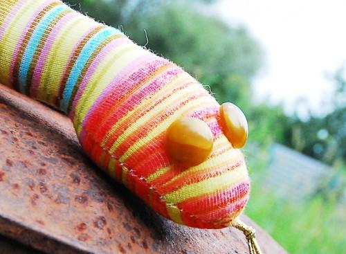 игрушка из трикотажа, змея
