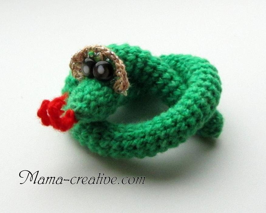 Змея, вязание крючком