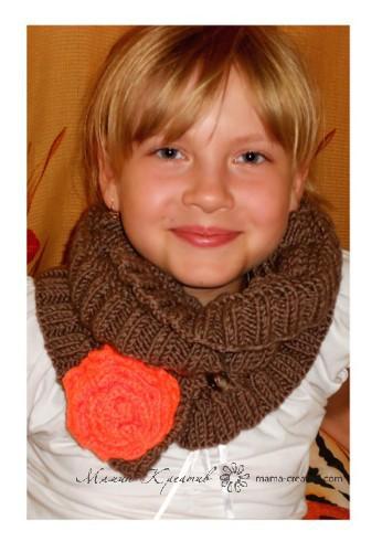 шарфик для девочки