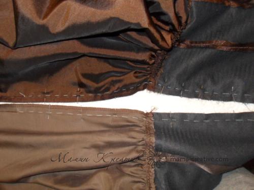 обработка деталей платья