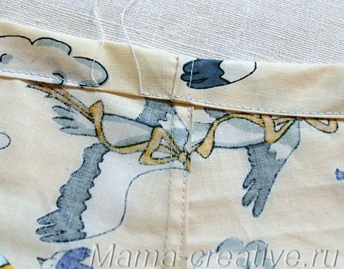 Семейные трусы, оформление верхней подгибки, бельевой шов